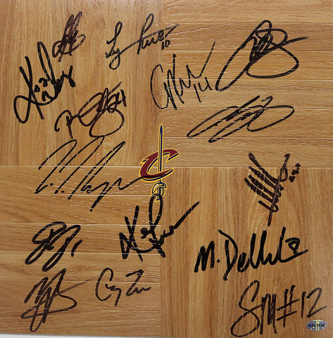 Cleveland Cavaliers Cavs 2015-16 Team Autographed Signed Floorboard AI COA Lebron Kyrie Love