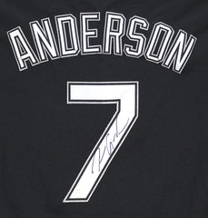 Tim Anderson Chicago White Sox Signed Autographed Black #7 Jersey JSA COA