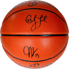 James Harden and Chris Paul Houston Rockets Signed Autographed Spalding Game Series Basketball PAAS COA