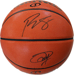 Joel Embiid and Ben Simmons Philadelphia 76ers Signed Autographed Spalding Game Ball Series Basketball PAAS COA