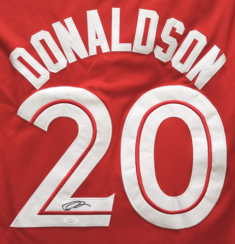 Josh Donaldson Toronto Blue Jays Signed Autographed Alternate Red #20 Jersey JSA COA