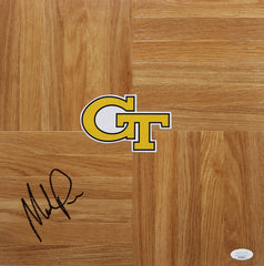 Mark Price Georgia Tech Yellow Jackets Signed Autographed Basketball Floorboard JSA COA