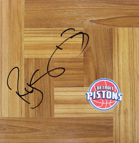 Rodney Stuckey Detroit Pistons Signed Autographed Basketball Floorboard
