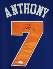 Carmelo Anthony New York Knicks Signed Autographed Blue #7 Jersey JSA COA
