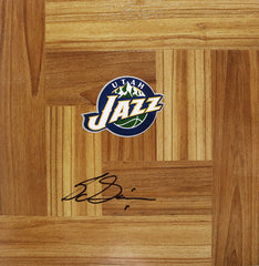 Sundiata Gaines Utah Jazz Signed Autographed Basketball Floorboard