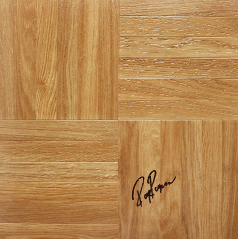 Roy Rogers Signed Autographed Basketball Floorboard