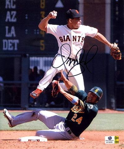 "Omar Vizquel San Francisco Giants Signed Autographed 8"" x 9-3/4"" Photo Witnessed Global COA"