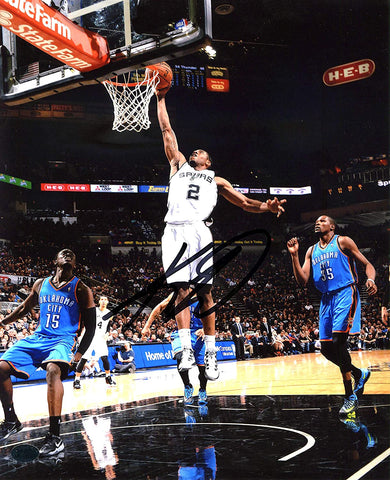 "Kawhi Leonard San Antonio Spurs Signed Autographed 8"" x 10"" Dunk Photo PAAS COA"
