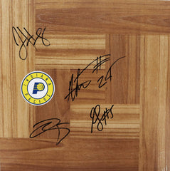 Indiana Pacers 2019-20 Signed Autographed Basketball Floorboard 4 Autographs