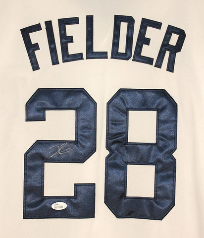 Prince Fielder Detroit Tigers Signed Autographed White #28 Jersey JSA COA