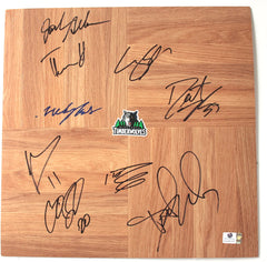 Minnesota Timberwolves 2012-13 Team Autographed Signed Basketball Floorboard Global COA