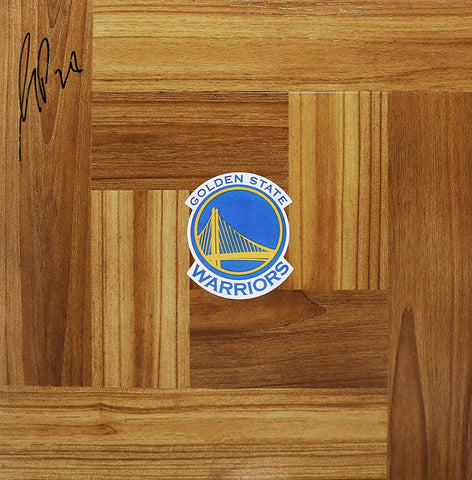 Mickael Pietrus Golden State Warriors Signed Autographed Basketball Floorboard