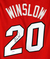 Justise Winslow Miami Heat Signed Autographed Red #20 Custom Jersey PSA/DNA COA