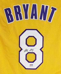 Kobe Bryant Los Angeles Lakers Signed Autographed Yellow #8 Custom Jersey PSA/DNA COA Sticker Only