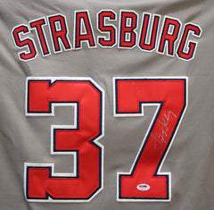 Stephen Strasburg Washington Nationals Signed Autographed Gray #37 Jersey PSA COA