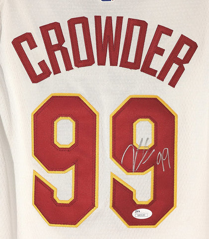 Jae Crowder Cleveland Cavaliers Signed Autographed White #99 Jersey Silver Auto JSA COA