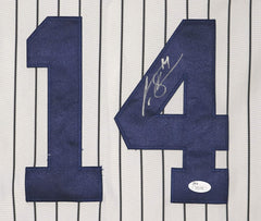 Curtis Granderson New York Yankees Signed Autographed White Pinstripe #14 Jersey JSA COA