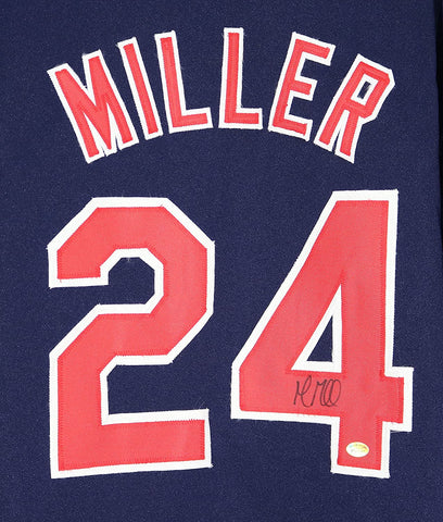 Andrew Miller Cleveland Indians Signed Autographed Blue #24 Custom Jersey PP COA