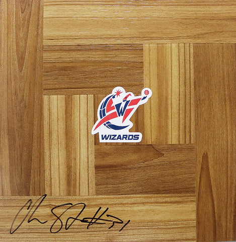 Chris Singleton Washington Wizards Signed Autographed Basketball Floorboard