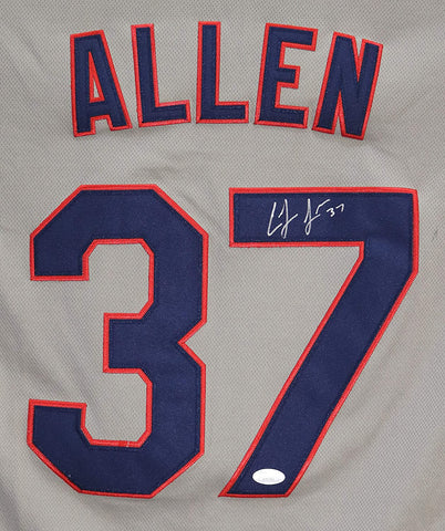Cody Allen Cleveland Indians Signed Autographed Gray #37 Jersey JSA COA