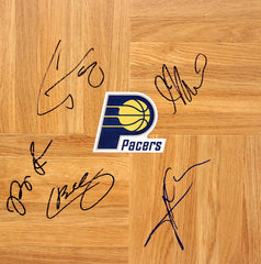 Indiana Pacers 2015-16 Team Signed Autographed Basketball Floorboard