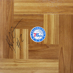 Kyle O'Quinn Philadelphia 76ers Signed Autographed Basketball Floorboard