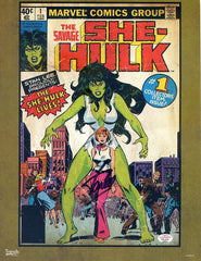 "Stan Lee Signed Autographed 8.25"" x 11"" Trends International She-Hulk Cover Poster PAAS COA"