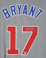 Kris Bryant Chicago Cubs Signed Autographed Gray CUBS on Front #17 Jersey PP COA