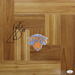 Jeremy Lin New York Knicks Signed Autographed Basketball Floorboard JSA COA