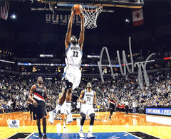 "Andrew Wiggins Minnesota Timberwolves Signed Autographed 8"" x 10"" Dunk Photo"
