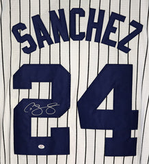 Gary Sanchez New York Yankees Signed Autographed White Pinstripe #24 Jersey PAAS COA