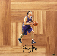 Autographed Basketball Floorboards