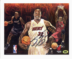 "Shaquille O'Neal Miami Heat Signed Autographed 8"" x 10"" Photo"