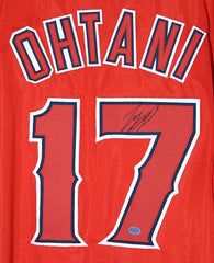 Shohei Ohtani Los Angeles Angels Signed Autographed Red #17 Custom Jersey PP COA