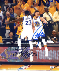 "Stephen Curry Draymond Green Golden State Warriors Signed Autographed 8"" x 10"" Celebration Photo PAAS COA"