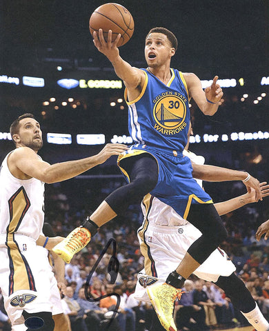 "Stephen Curry Golden State Warriors Signed Autographed 8"" x 10"" Layup Photo PAAS COA"