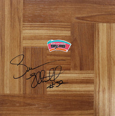 Sean Elliott San Antonio Spurs Autographed Signed Basketball Floorboard