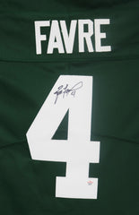 Brett Favre Green Bay Packers Signed Autographed Green #4 Jersey PAAS COA