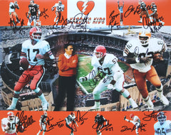 "Cleveland Browns Kardiac Kids Signed Autographed 11"" x 14"" Photo Witnessed Global COA Sipe Newsome"