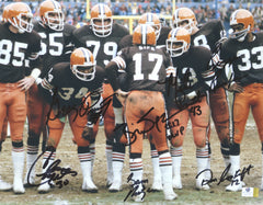 "Cleveland Browns Kardiac Kids Signed Autographed 11"" x 14"" Photo Witnessed Global COA 7 Autographs Sipe"