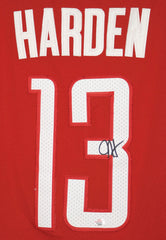 James Harden Houston Rockets Signed Autographed Red #13 Jersey PAAS COA