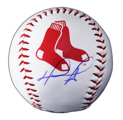 David Ortiz Boston Red Sox Signed Autographed Rawlings Official Major League Logo Baseball Global COA with Display Holder