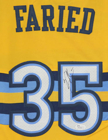 Kenneth Faried Denver Nuggets Signed Autographed Yellow #35 Jersey Size XL JSA COA