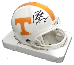 Peyton Manning Tennessee Volunteers Signed Autographed Football Mini Helmet Steiner COA