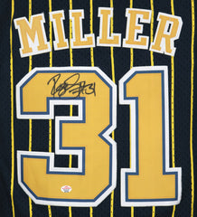 Reggie Miller Indiana Pacers Signed Autographed Black #31 Jersey PAAS COA