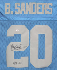 Barry Sanders Detroit Lions Signed Autographed Blue Throwback #20 Jersey PAAS COA