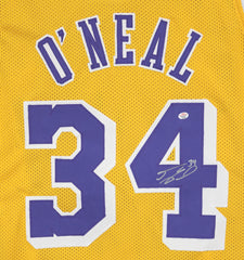 Shaquille O'Neal Los Angeles Lakers Signed Autographed Yellow #34 Custom Jersey PAAS COA