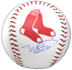 Mookie Betts Boston Red Sox Signed Autographed Rawlings Official Major League Logo Baseball Global COA with Display Holder