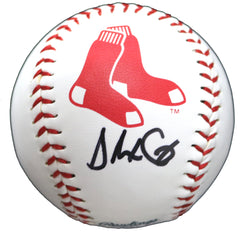 Alex Cora Boston Red Sox Signed Autographed Rawlings Official Major League Logo Baseball Global COA with Display Holder