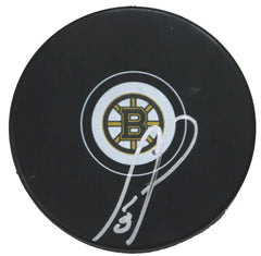 Cam Neely Boston Bruins Signed Autographed Bruins Logo NHL Hockey Puck Global COA with Display Holder